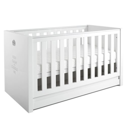 Tutti Bambini Sovereign Cot Bed  - High Gloss White