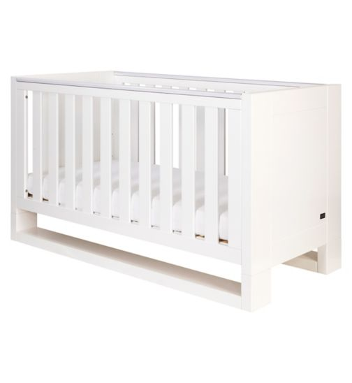 Tutti Bambini Rimini Cot Bed - High Gloss White Finish