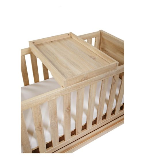 Tutti Bambini Milan Cot Top Changer - Reclaimed Oak Finish