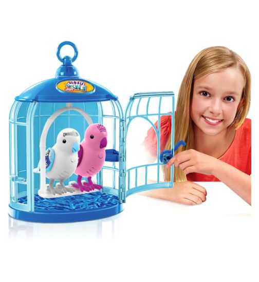 Little Live Pettoy bird with  cage assor