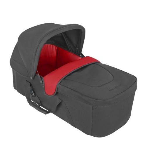 Maclaren Techno XLR Soft Cot - Charcoal & Cardinal