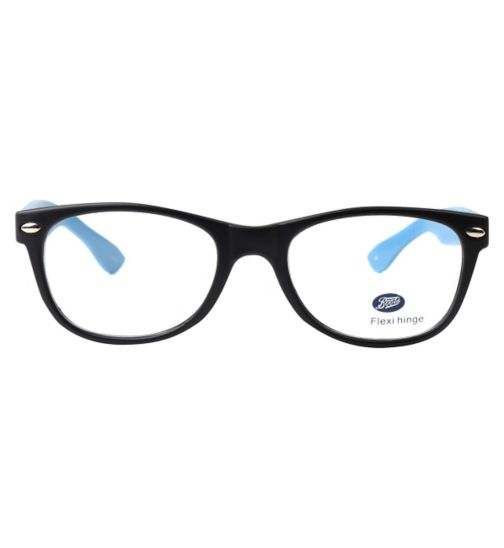 Boots BKM1411 Kids' Black Glasses - Free with an NHS Voucher