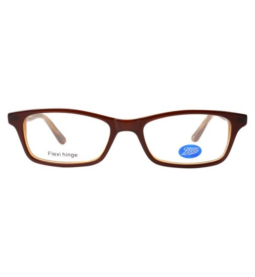 Boots BKF1417 Kids' Brown Glasses - Free with an NHS Voucher