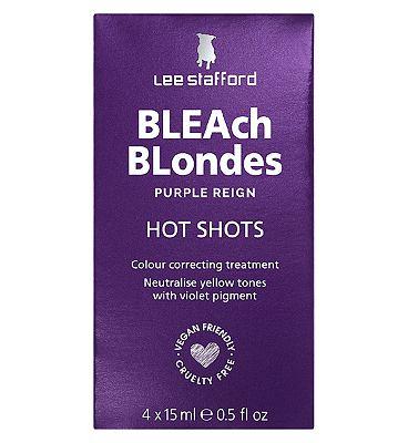 Lee Stafford Bleach Blondes Hot Shots 4 x 15ml