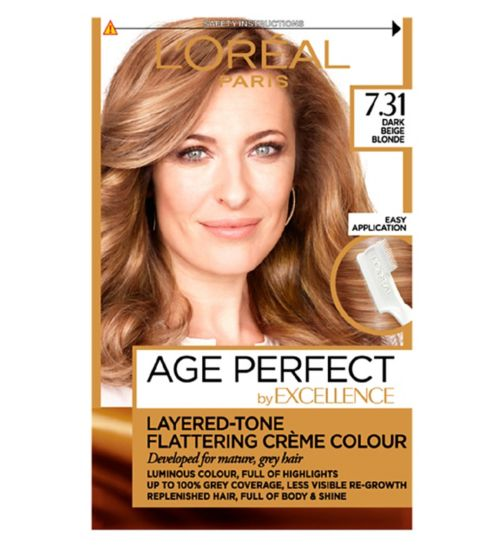 L'Oréal Paris Excellence Age Perfect 7.31 Dark Beige Blonde