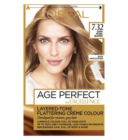 L'Oreal Paris Excellence Age Perfect 7.32 Dark Pearl Blonde