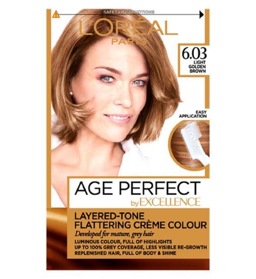 L'Oreal Paris Excellence Age Perfect 6.03 Light Golden Brown