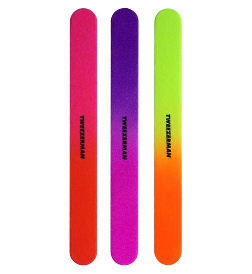 Tweezerman Neon Files pack of 3