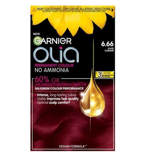 Garnier Olia 6.66 Vivid Garnet Red Permanent Hair Dye