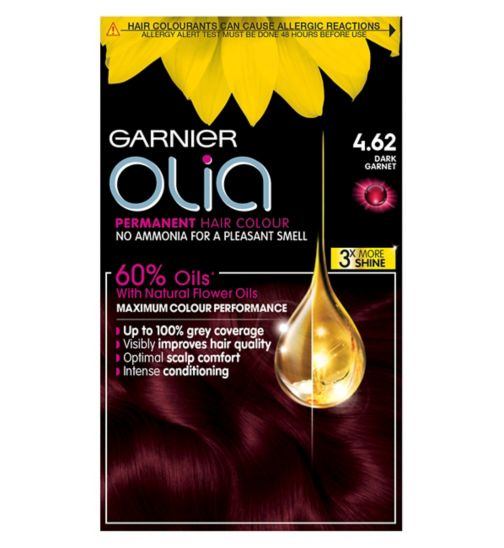 Garnier Olia 4.62 Dark Garnet Red Permanent Hair Dye