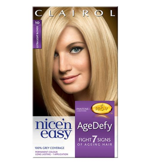Nice'n Easy Age Defy Permanent Hair Colour Extra Light Blonde 10