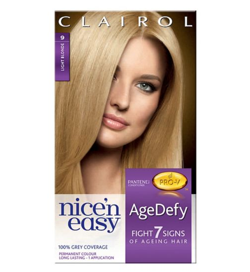 Nice'n Easy Age Defy Permanent Hair Colour Light Blonde 9