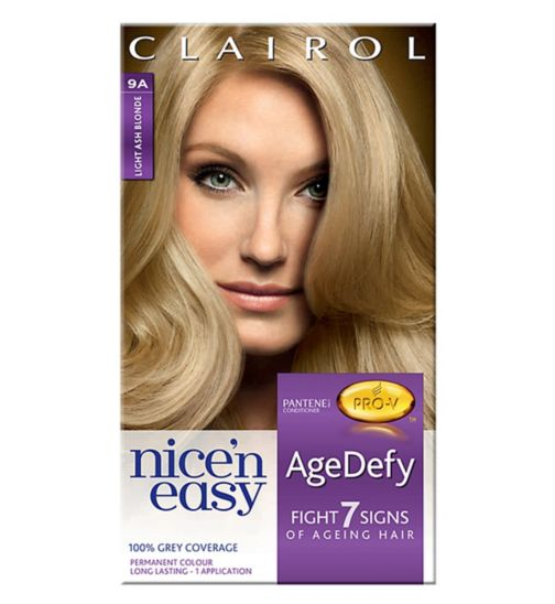 Nice'n Easy Age Defy Permanent Hair Colour Light Ash Blonde 9A