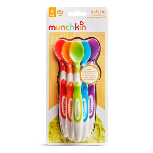 Munchkin 6 Soft-Tip Infant Spoons 3m+