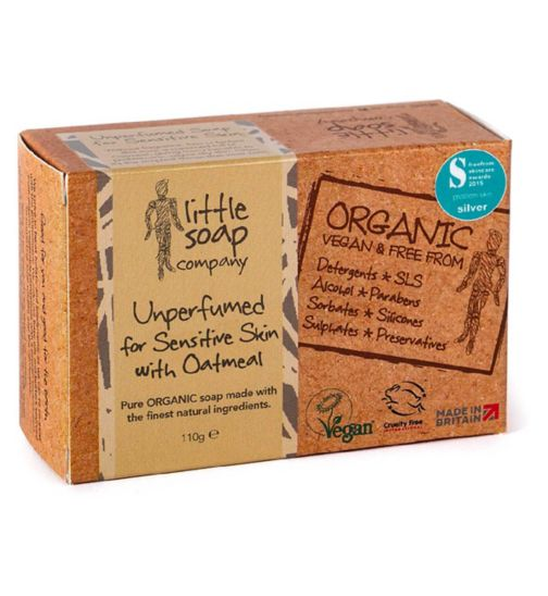 Little Soap Company Unperfumed Soap for Sensitive Skin 110g