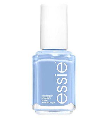 essie 374 Salt Water Happy Baby Blue Nail Polish