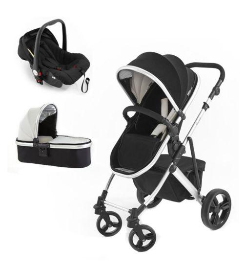 Tutti Bambini Riviera 3 in 1 Silver Stroller Travel System black/cool grey