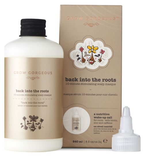 Grow Gorgeous Back Into The Roots 10 Minute Stimulating Scalp Mask 240ml