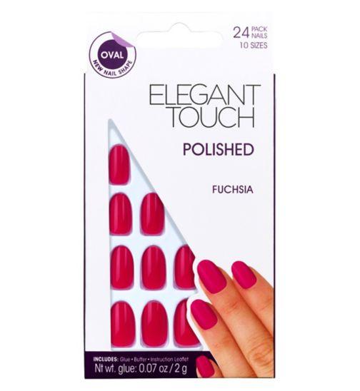 Polished Nails Fuschia Oval