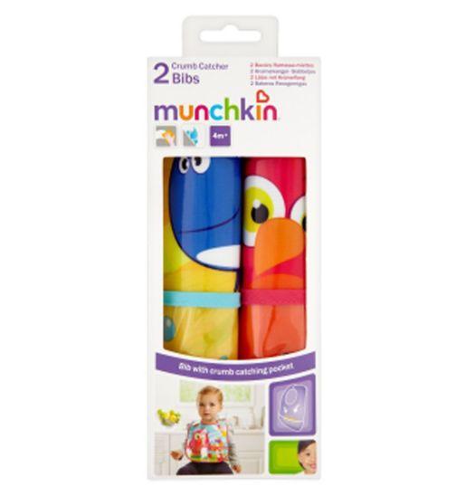 Munchkin 2 Crumb Catcher Bibs 4m+