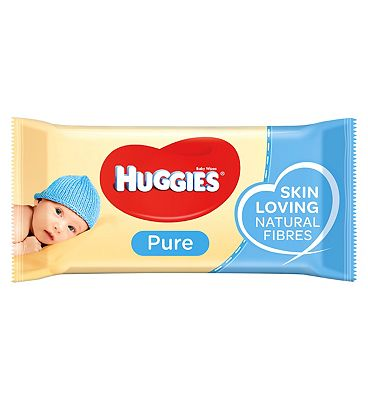 Pure Baby Wipes, single pack = 56 wipes