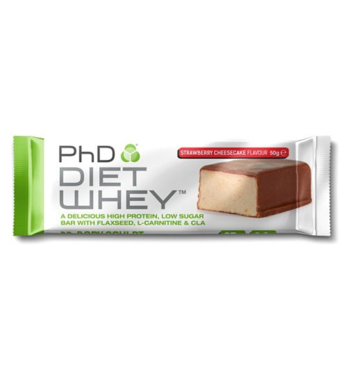 PhD Diet Why Strawberry Cheesecake Bar 50g