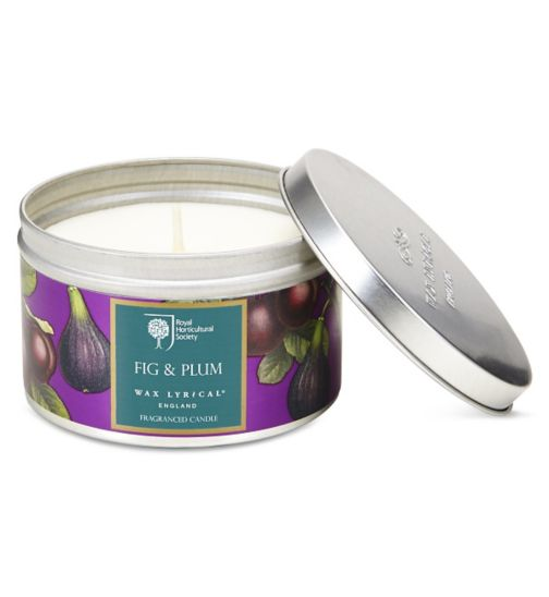 Wax Lyrical RHS Scented Wax Filled Candle Tin Fig & Plum