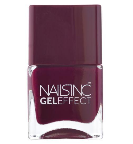 Nails Inc Gel Effect Kensington High Street Deep Berry 14ml