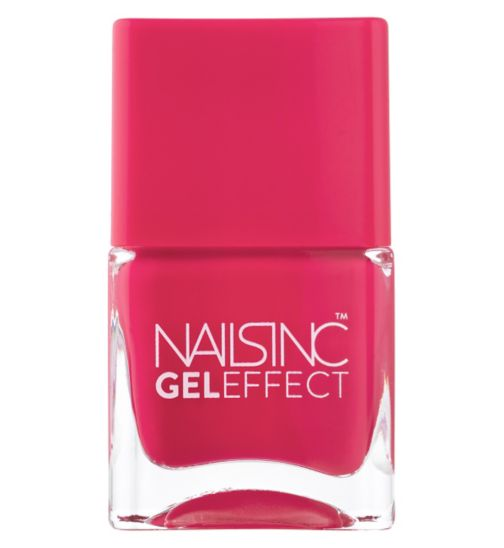 Nails Inc Gel Effect Covent Garden Place Raspberry Shade 14ml