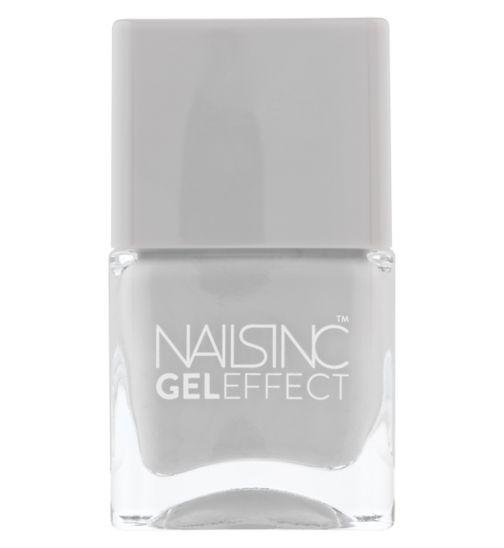 Nails Inc Gel Effect Hyde Park Place Light Grey Shade 14ml