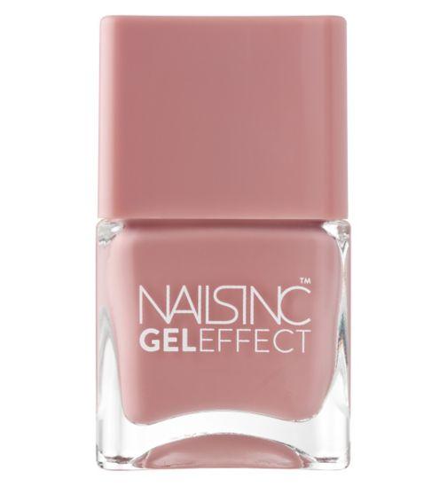 Nails Inc Gel Effect Uptown Dusky Pink Shade 14ml