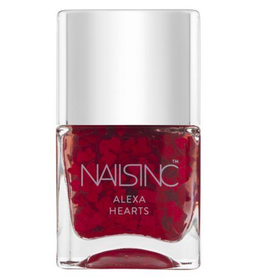 Nails Inc Alexa Hearts Red Hearts Top Coat 14ml