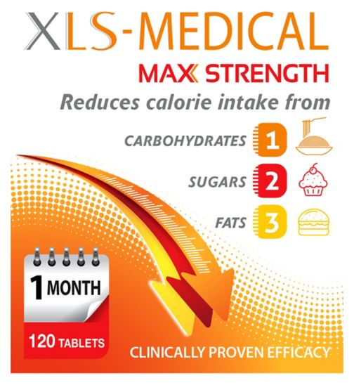 XLS Medical    Max Strength   120s;XLS-Medical Max Strength - 120s  ;XLS-Medical Max Strength - 360 Tablets (3 Month Supply)