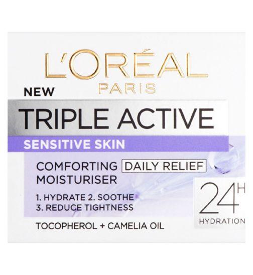 L'Oreal Paris Triple Active Day Moisturiser Sensitive Skin 50ml
