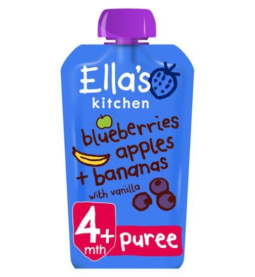 Ella's Kitchen Blueberries, Apples, Bananas + Vanilla from 4 Months 120g