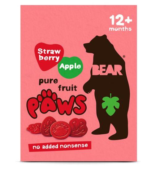 BEAR Paws Dino Multipack Strawberry & Apple (5 x 20g)