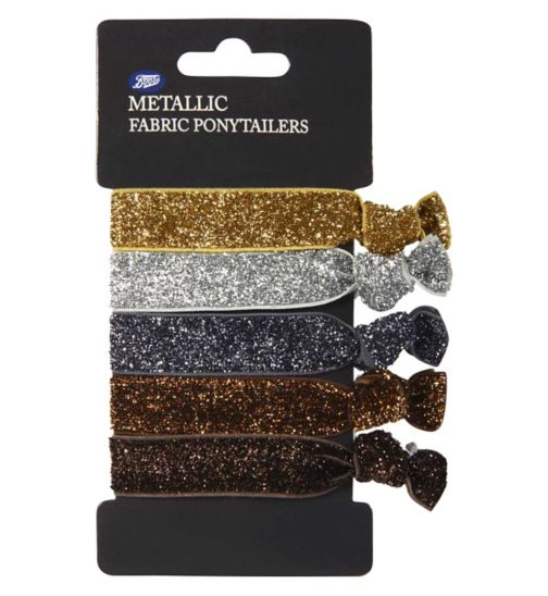 Boots Metallic Fabric Pony Tailer