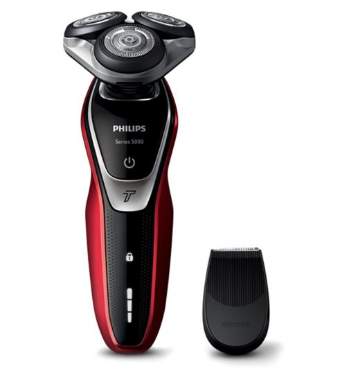 Philips Series 5000 Dry Men's Electric Shaver S5340/06 with Precision trimmer and Turbo function