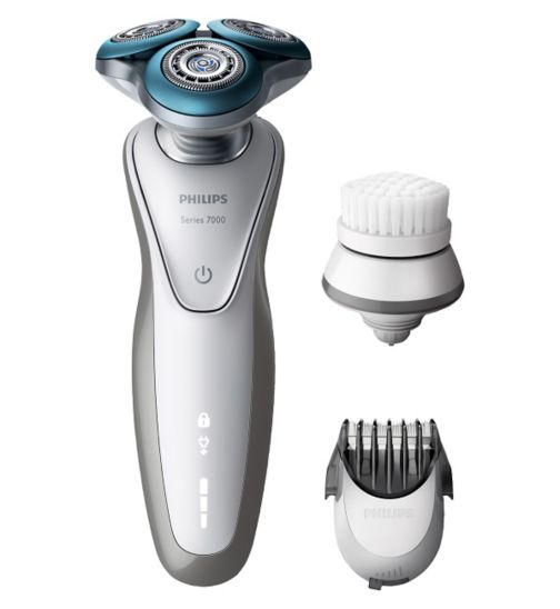 Philips Series 7000 Wet & Dry Men's Electric Shaver S7530/50 with SmartClick Cleansing Brush and Beard Trimmer