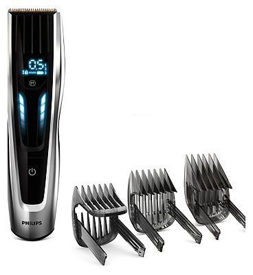 Philips Hair Clipper Series 9000 HC945013 with adjustable digital swipe action precision combs