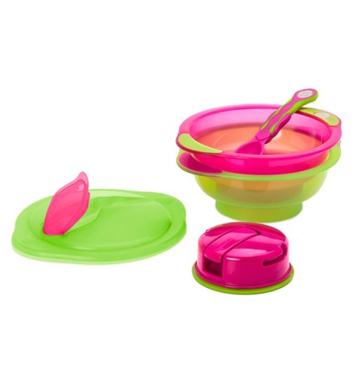Vital Baby Unbelievabowl x2 and Spoon - Pink