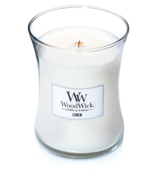 WoodWick Linen Medium Candle