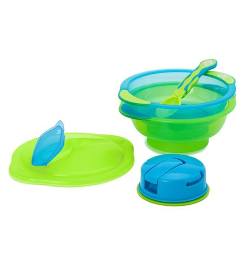 Vital Baby Unbelievabowl x2 and Spoon - Blue