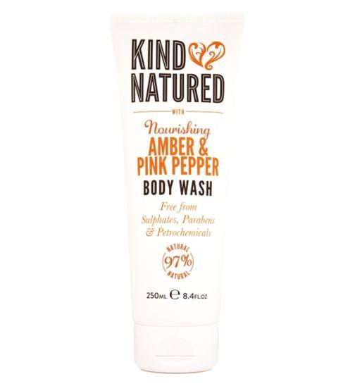 Kind Natured Nourishing Amber & Pink Pepper Body Wash 250ml