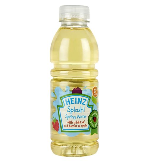 Heinz 6+ Months Splash! Spring Water with a Hint of Red Berries & Apple 500ml