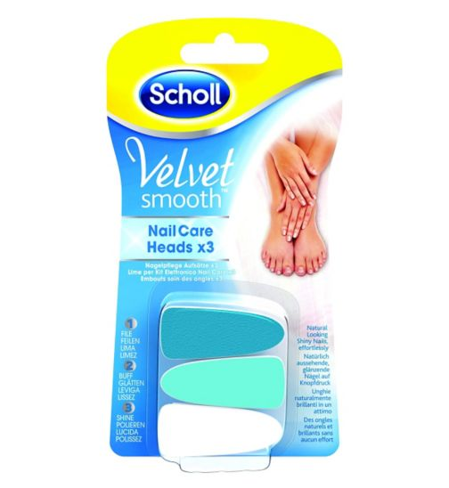 Scholl Velvet  Smooth Nail Care Heads x3