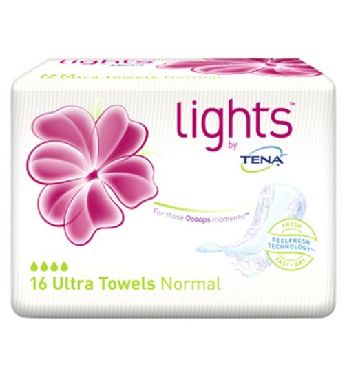 lights by TENA Ultra Towels x16