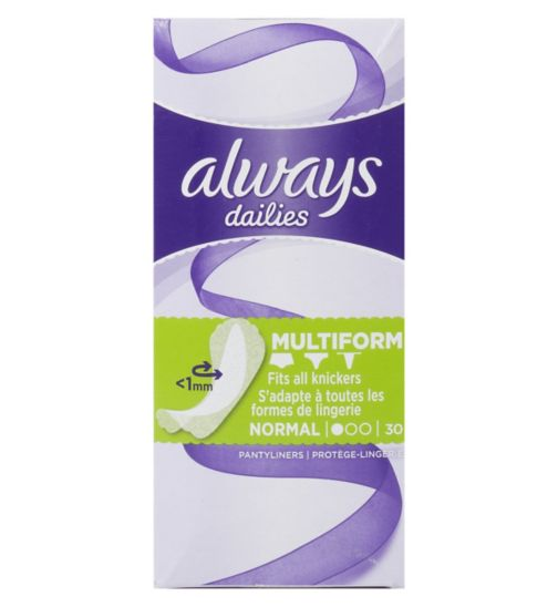 Always Dailies pantyliner Multiform 30s