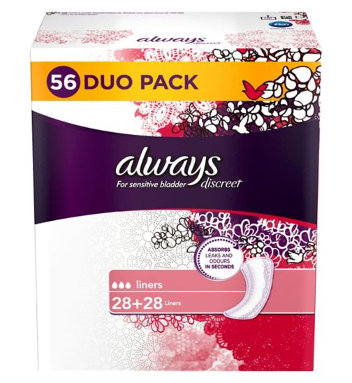 Always Discreet for sensitive bladder - Liners 56cts