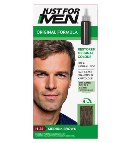 Just For Men Hair Colourant, Natural Medium Brown